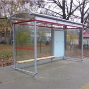 Statie de autobuz de aluminiu