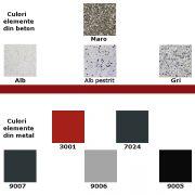 culori beton+metal alb-maro