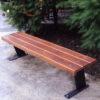 Banca stradala fara spatardin otelsi lemn de pin UMM250