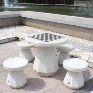 Masa de sah stradala pentru exterior ieftina din beton