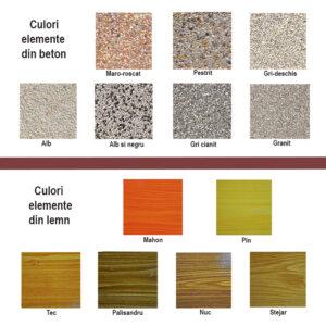 Culori beton lemn