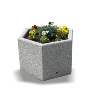 Jardiniera hexagonala din beton UM340