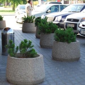 Jardiniera rotunda din beton UM346