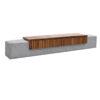 Banca din beton si rigle din lemn UM1845