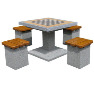 Masa de sah din beton cu 4 scaune ES187