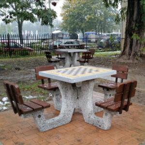 Masa de sah din beton ES186